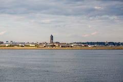 Boston Logan Airport Across Harbor Stock Photo