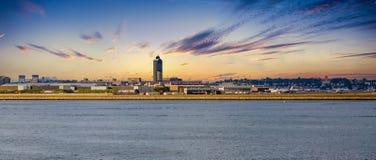 Boston Logan Airport At Dawn Royalty Free Stock Photo