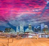 Boston, MA. Beautiful night skyline on a autumn evening Royalty Free Stock Images