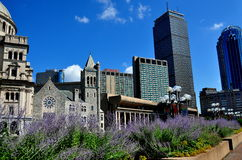 Boston, MA: Christian Scientist Church and Prudential Tower Stock Images