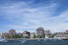 Boston, MA. The city of Boston Massachusetts as seen from the inner harbor Stock Images