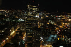 Boston, MA cityscape at night Stock Photo