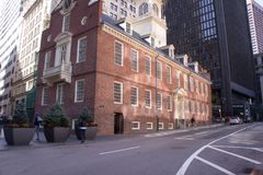 Boston, mA 4 de octubre de 2017: Casa vieja del estado imagen de archivo