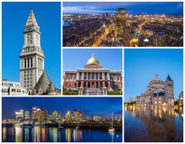 Boston MA famous landmarks Royalty Free Stock Photo