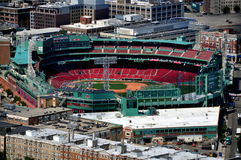 Boston, MA: Fenway Park, Home of the Red Sox. Fenway Park sports stadium, the home of the American League Boston Red Sox baseball team near Kenmore Stock Image