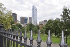 Boston mA, il 30 giugno: Giardino pubblico da Boston del centro nello stato di Massachusettes di U.S.A. Fotografia Stock Libera da Diritti