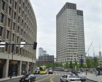 Boston Ma, 30 Juni: Straatmening van Boston de stad in in Massachusettes-Staat van de V.S. Stock Afbeelding
