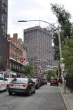 Boston Ma, 30 Juni: Straatmening van Boston de stad in in Massachusettes-Staat van de V.S. Stock Afbeeldingen