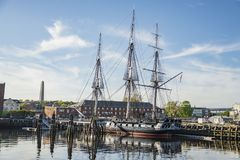 USS Constitution ship in Boston Stock Images