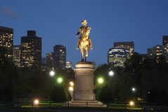 Boston, MA-Nachtaufnahme Lizenzfreies Stockfoto