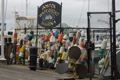 BOSTON, MA, OCTOBER 24, 2014: Boston Waterboat Marina located on historic Long Wharf Stock Photos