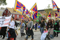 Boston, MA - October 6, 2012: Columbus Day Parade Stock Photography