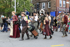 Boston, MA - October 6, 2012: Columbus Day Parade Stock Image