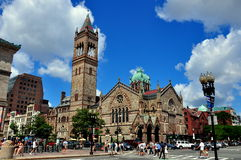 Boston, MA: Old South Church in Copley Square Stock Photography