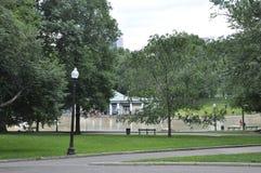 Boston Ma, 30th June: Boston Common Park in Downtown Boston in Massachusettes State of USA Stock Image