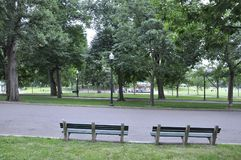 Boston Ma, 30th June: Boston Common Park in Downtown Boston in Massachusettes State of USA Royalty Free Stock Image