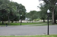 Boston Ma, 30th June: Boston Common Park in Downtown Boston in Massachusettes State of USA Stock Photos