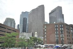 Boston Ma, 30th June: Dowtown buildings from Boston in Massachusettes State of USA. Dowtown from Boston in Massachusettes State of USA on 30th june 2017 Stock Images