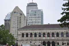 Boston Ma,30th June: Public Library Building in Copley Square from Boston in Massachusettes State of USA Stock Photography