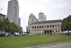 Boston Ma,30th June: Public Library in Copley Square from Boston in Massachusettes State of USA Royalty Free Stock Images