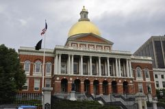 Boston Ma, 30th June: State House of Massachusettes from Boston in USA Stock Images