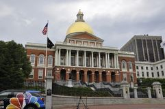 Boston Ma, 30th June: State House of Massachusettes from Boston in USA Stock Photos