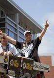 BOSTON, MA, U.S.A. - 18 GIUGNO: Patrice Bergeron celebra la vittoria di Stanley Cup alla parata di Boston Bruins dopo la conquista Fotografia Stock Libera da Diritti