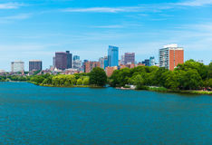 Boston, MA, USA: Boston downtown, view from Charles River and Back Bay Stock Photography