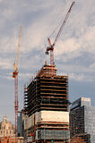 Boston, MA, USA 25 Jul. 2009: Shot of developing building carcas and cranes in waterfront area of Boston Stock Photos