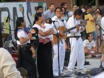 Boston MA/USA-June 22 2013, spela för indianmusiker arkivbild