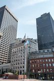 Boston MA USA 04.09.2017 skyline summer day panoramic view buildings downtown Stock Image