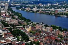 Boston, MA: View of City and Charles River Stock Photos