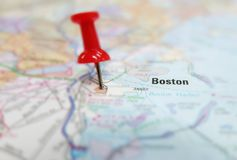 Boston mapa Obraz Stock