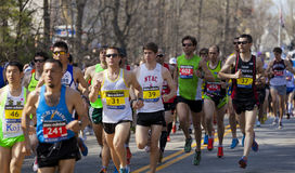 Boston Marathon. The 2012 Boston Marathon starting line in Hopkinton, MA, USA Stock Photos