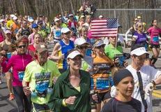 The Boston Marathon 2014 Royalty Free Stock Photography