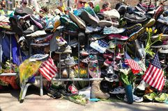 Boston Marathon bombing memorial Royalty Free Stock Photography