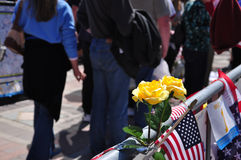 Boston Marathon bombing memorial Stock Images