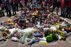 Boston Marathon bombing memorial Royalty Free Stock Photos