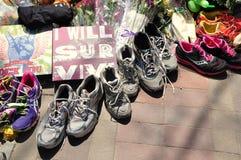 Boston Marathon bombing memorial Royalty Free Stock Photo