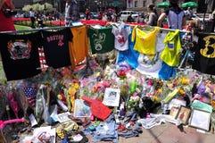 Boston Marathon bombing memorial Stock Photos