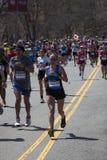 Boston Marathon 2014 Mass of runners Stock Image