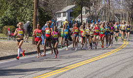 Boston Marathon 2014 in Massachusetts, USA. Royalty Free Stock Photography