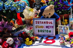 Boston Marathon Memorial Stock Photography