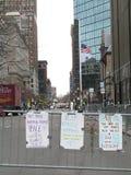 Boston 2013 Marathon Memorial Signs Flag Halfstaff Royalty Free Stock Images