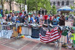 Boston Marathon memorial Stock Images