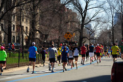 Boston marathon runners Stock Photos