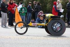 Boston Marathon Wakako Tsuchida. Women's wheelchair winner , Wakako  Tsuchida (JPN), at the Boston Marathon April 20th 2009 Royalty Free Stock Photos