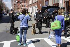 Boston maraton 2014 Royaltyfria Foton