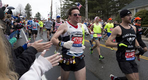 Boston maraton 2015 Royaltyfria Foton