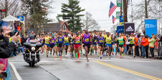 Boston maraton 2015 Obrazy Royalty Free